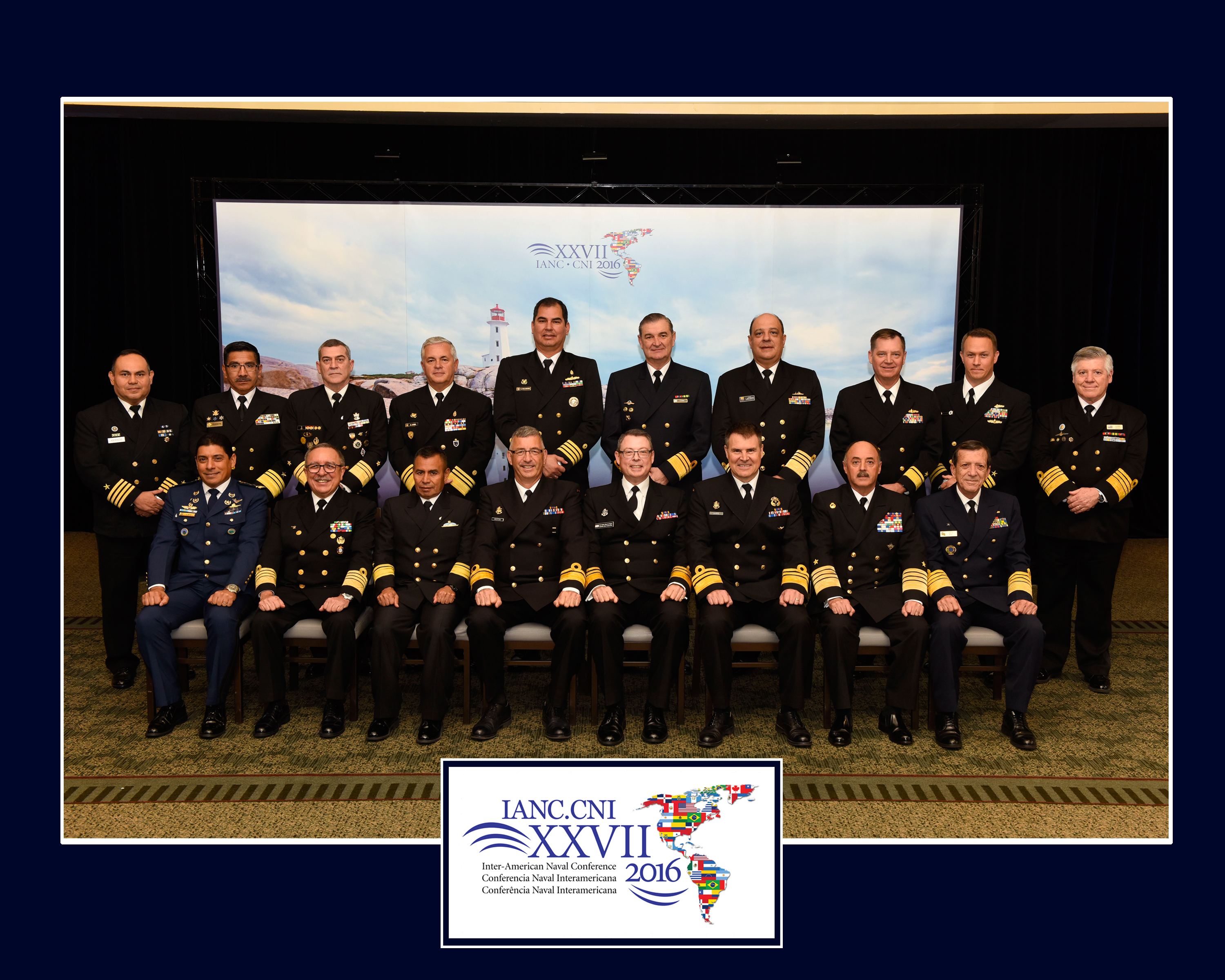 Official delegate photo from the 27th Inter-American Naval Conference held in Halifax in June 2016.