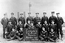 The first recruits of the Naval Service of Canada.