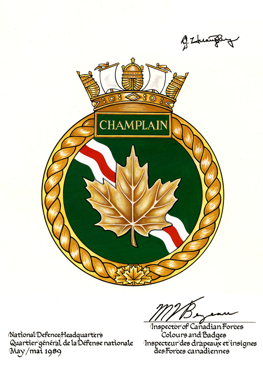 Badge of HMCS Champlain.