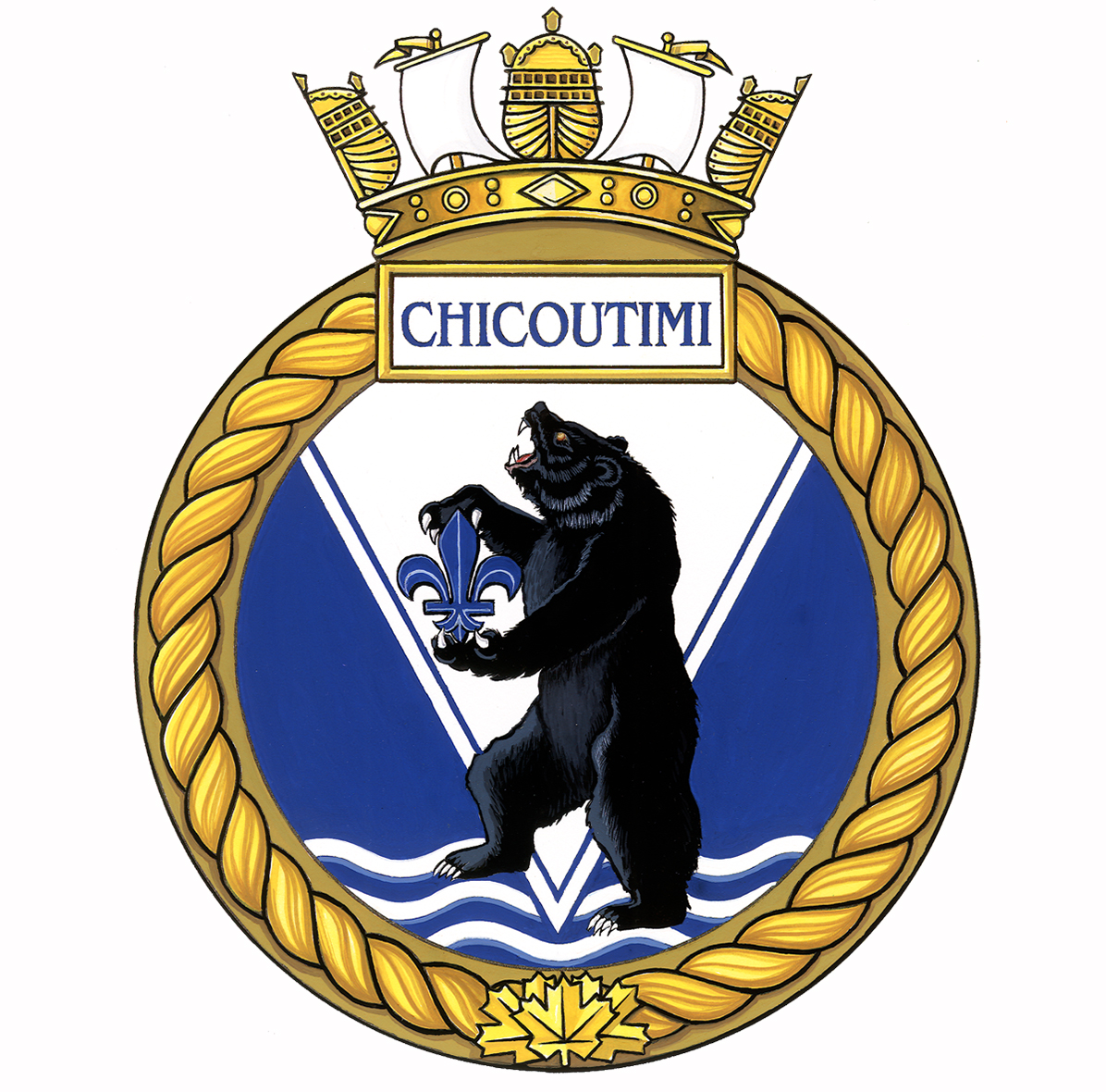 Badge of HMCS Chicoutimi.