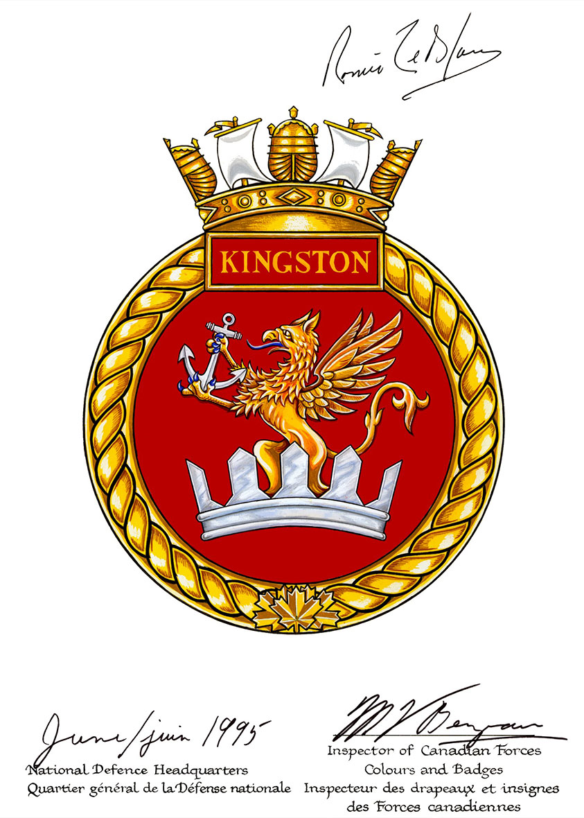 Badge of HMCS Kingston.
