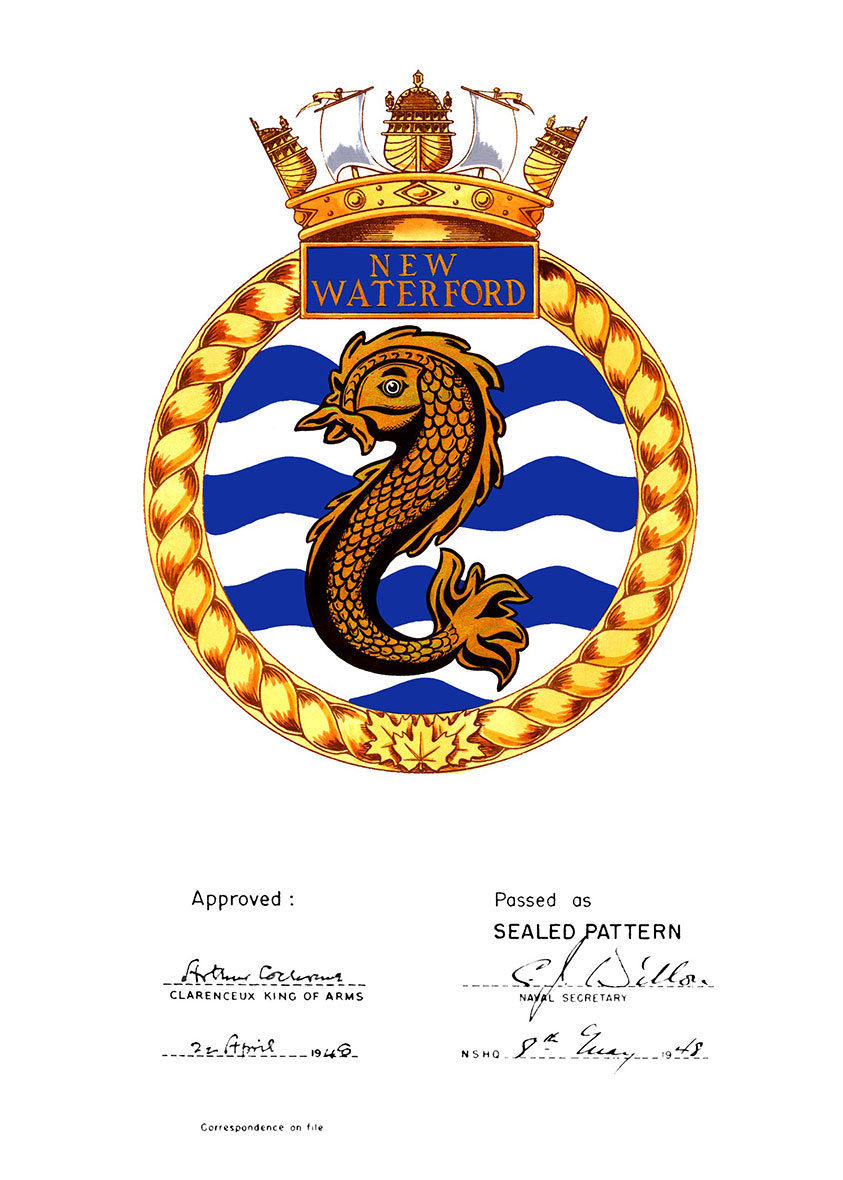 Badge of HMCS New Waterford.