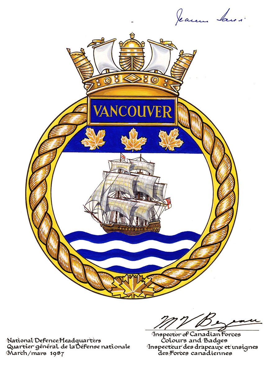 Badge of HMCS Vancouver.