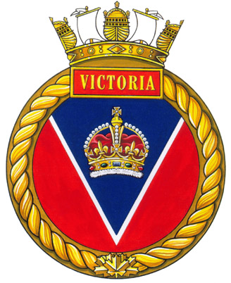 Badge of HMCS Victoria.