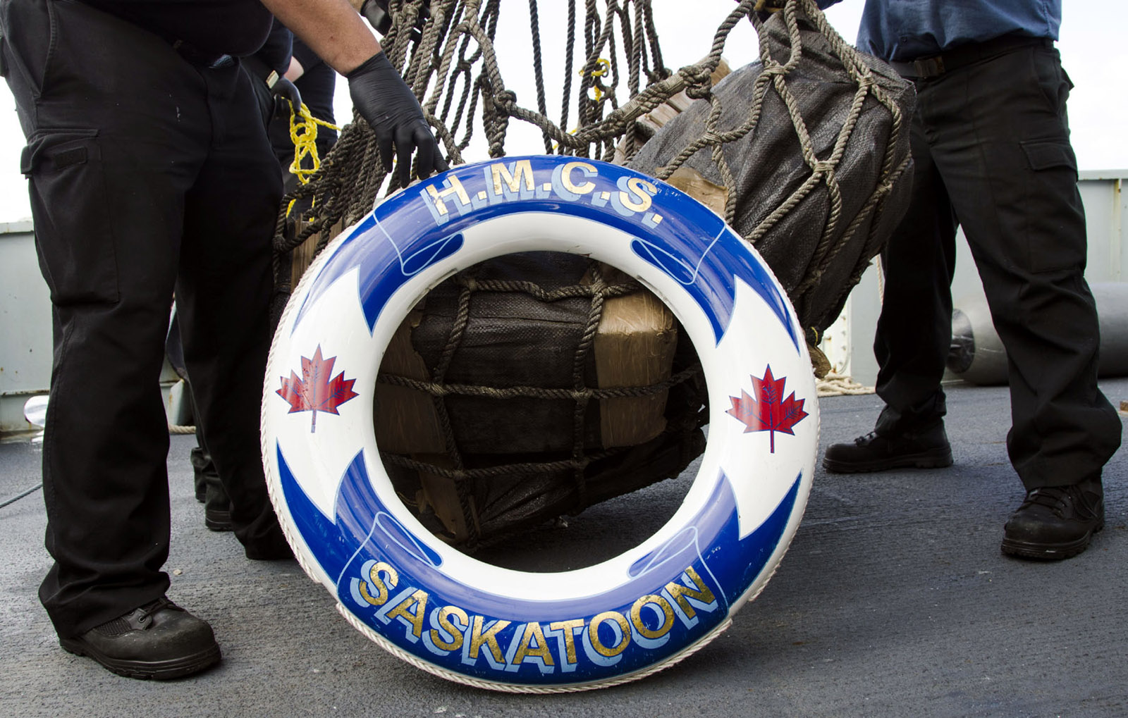 In March and April, HMCS Saskatoon seized 1,120 kilograms of cocaine in international waters in the Eastern Pacific.