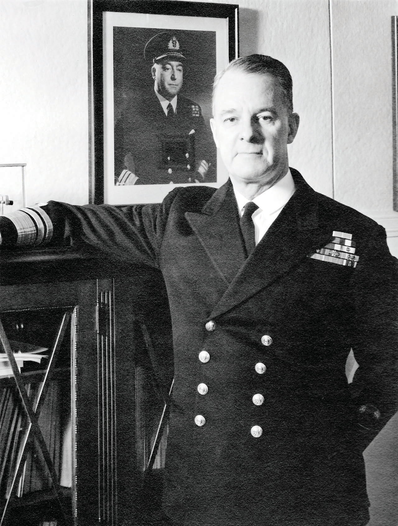 Vice-Admiral Harry DeWolf, a Canadian naval hero of the Second World War.