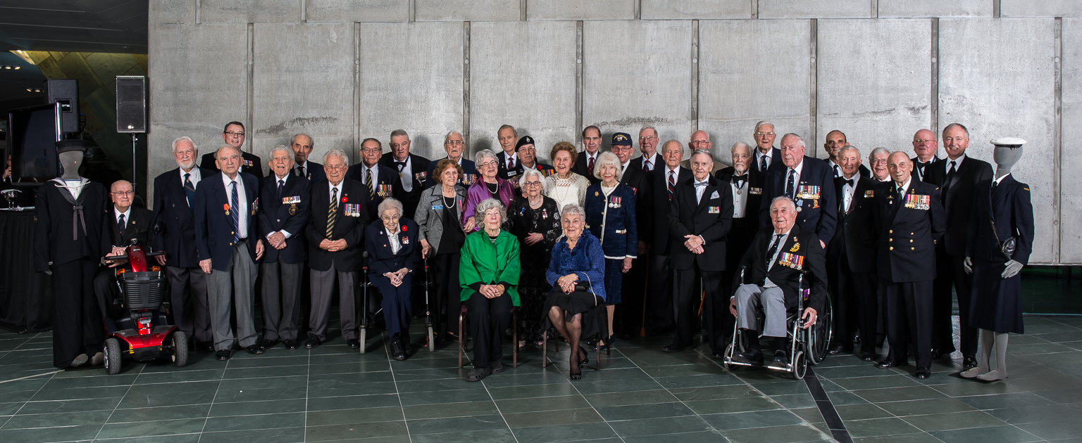 Veterans of the Battle of the Atlantic, accompanied by Comd RCN and MND