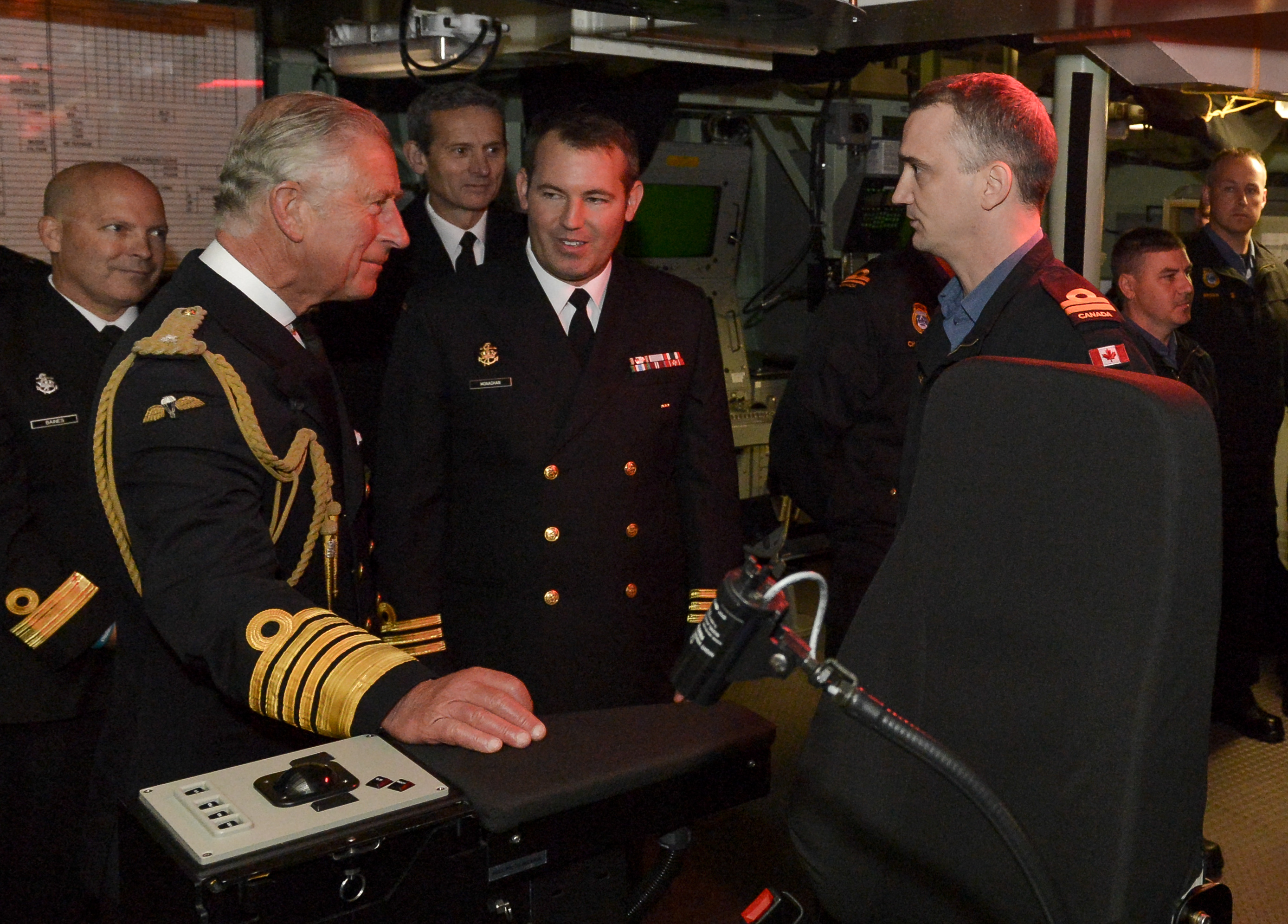 His Royal Highness Prince Charles and Commander Kristjan Monaghan