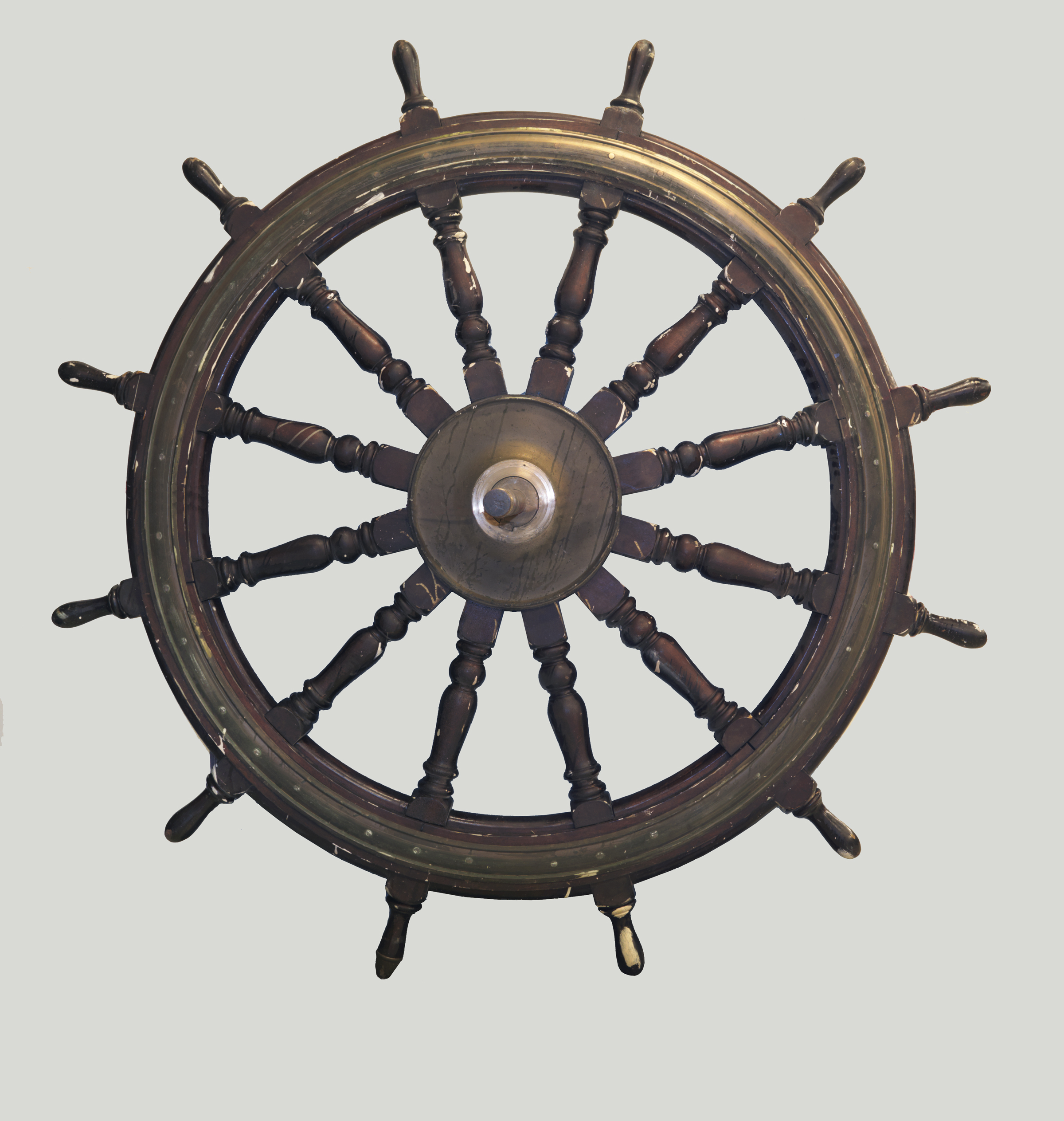 The ship's wheel from Her Majesty's Canadian Ship Niobe, one of Canada's first two warships.