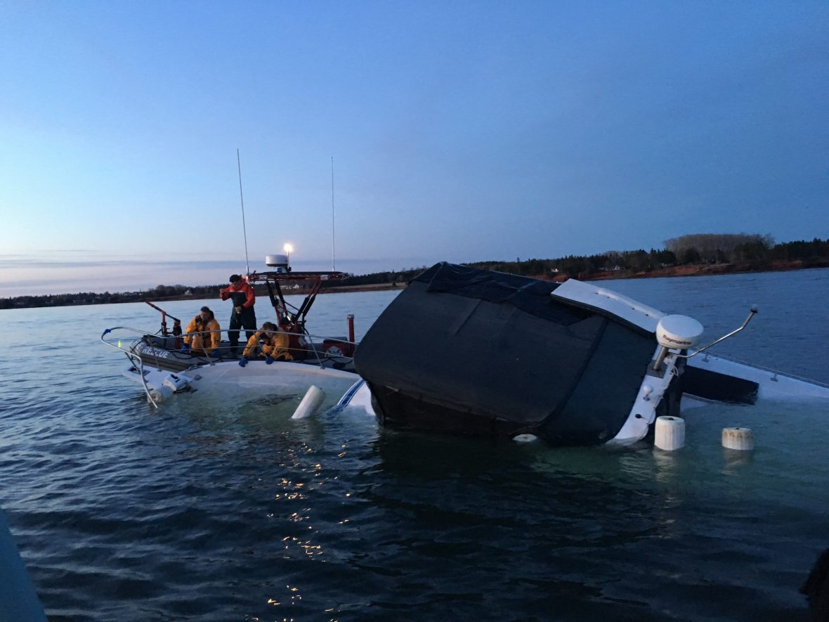 slide - Sailors respond to a vessel in distress