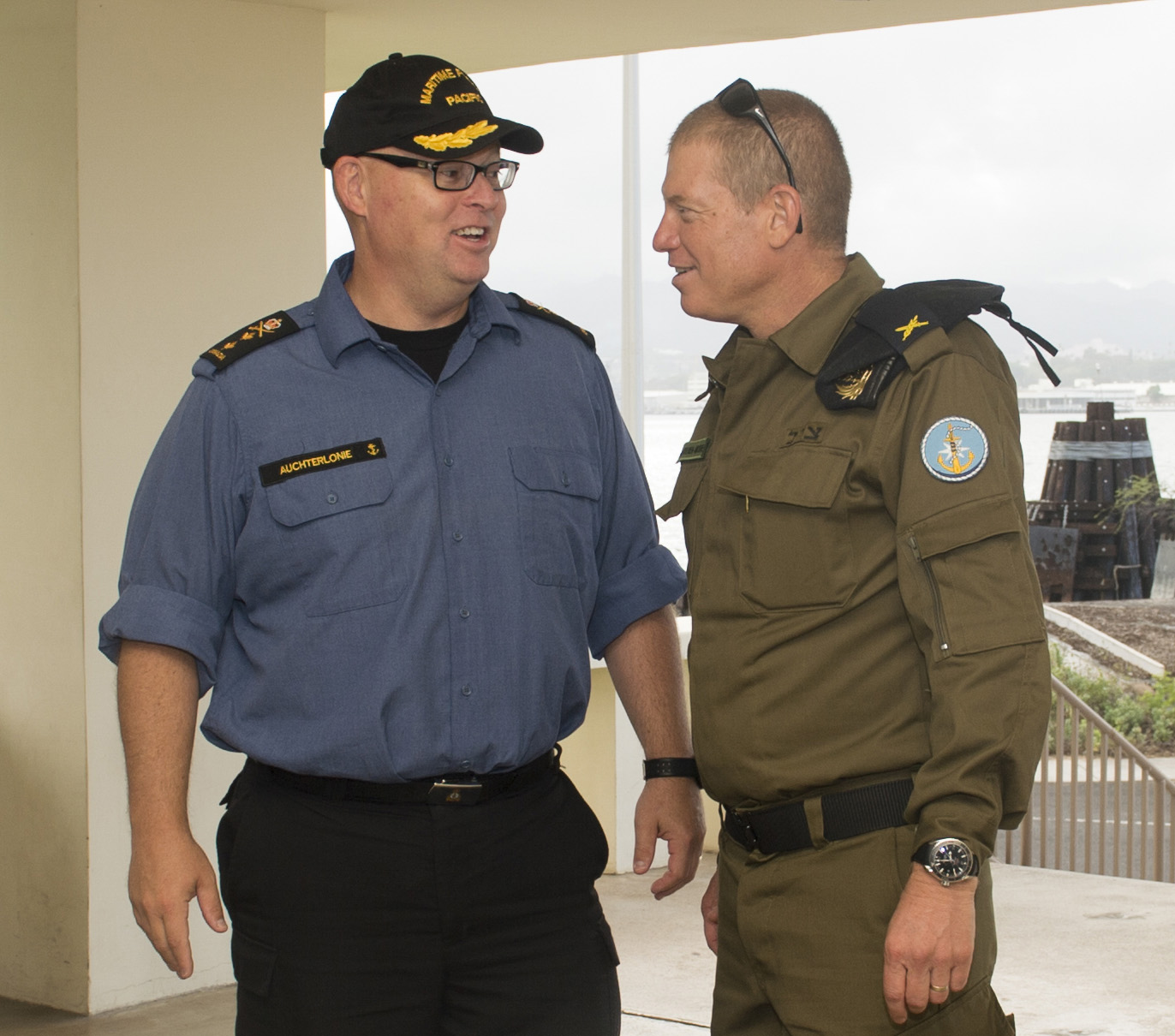 Rear-Admiral Bob Auchterlonie and RAdm Ido Ben-Moshe