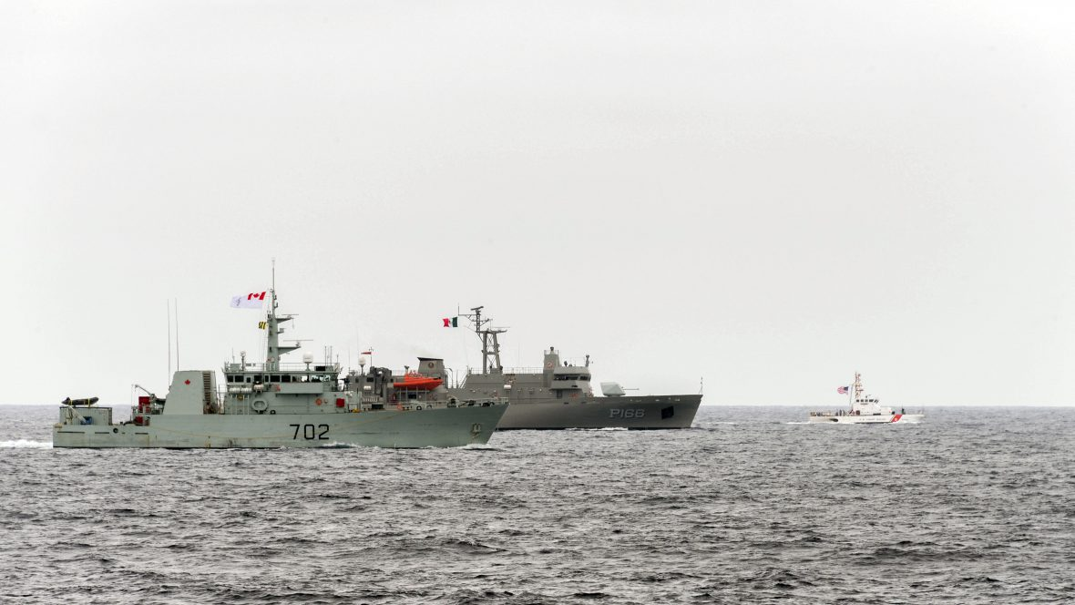 HMCS Nanaimo and HMCS Edmonton