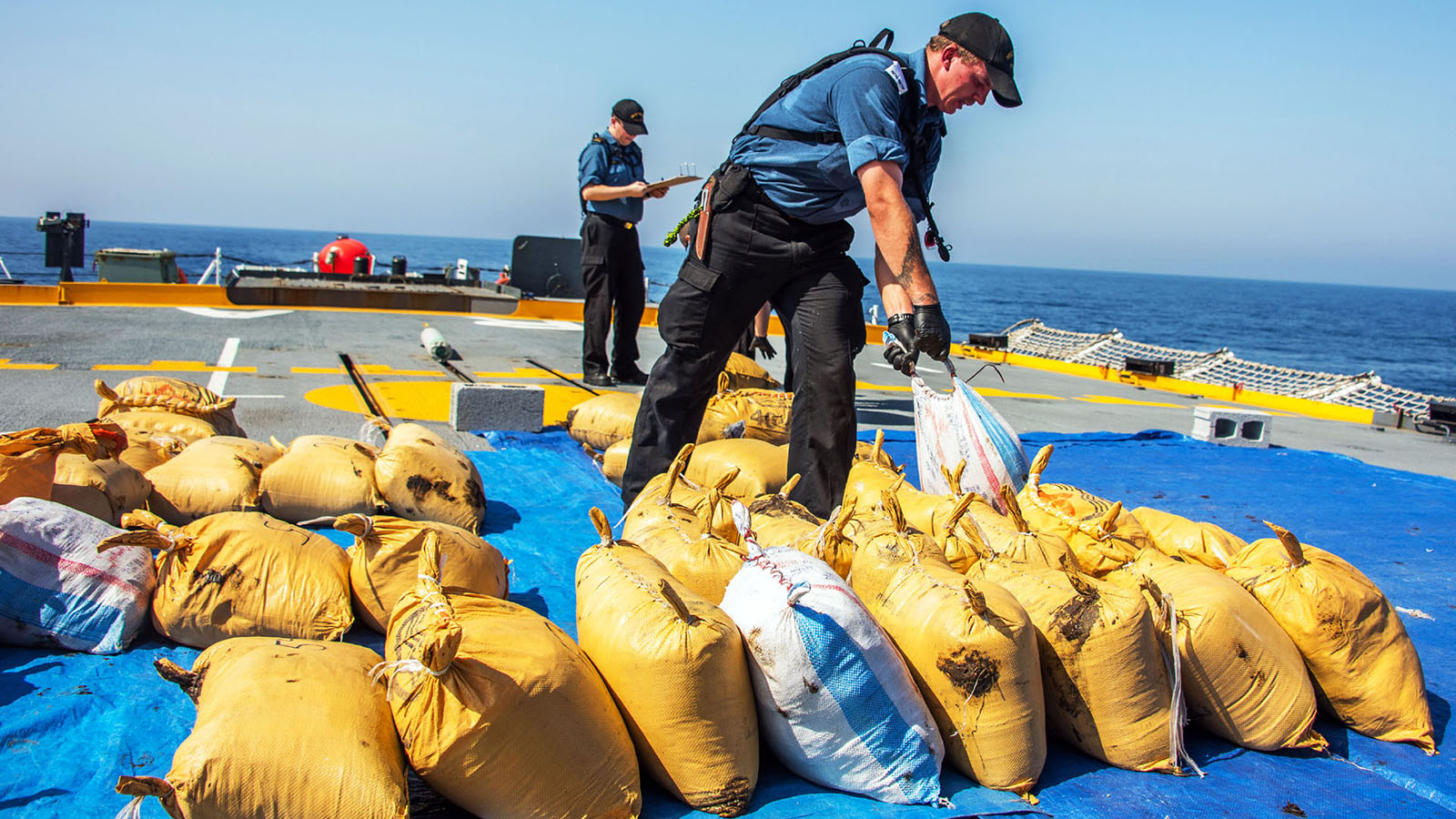 Narcotics seized by HMCS Regina