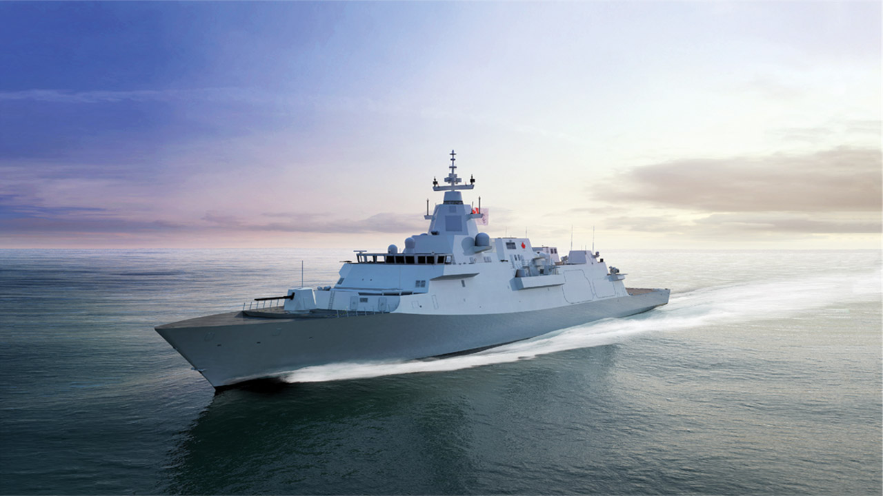 A conceptual design of the future Canadian Surface Combatant ship.
