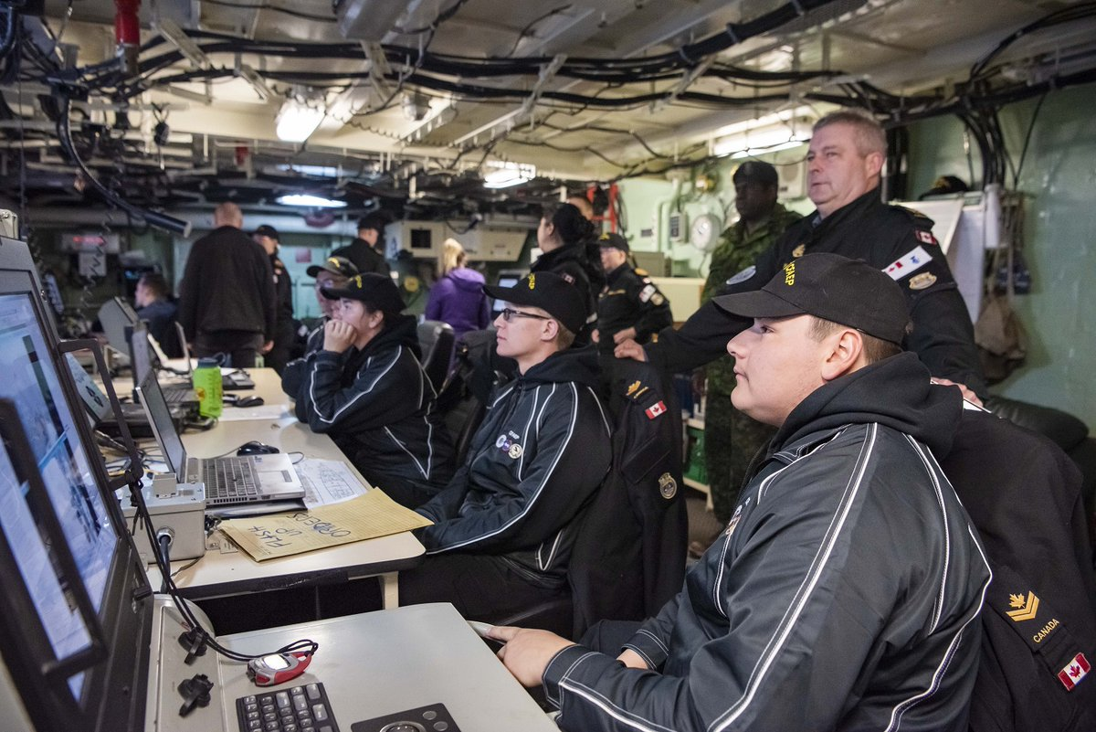 A day sail aboard HMCS Ville de Quebec saw CFAEP participants tour through the various ship departments and learn about different naval career options.