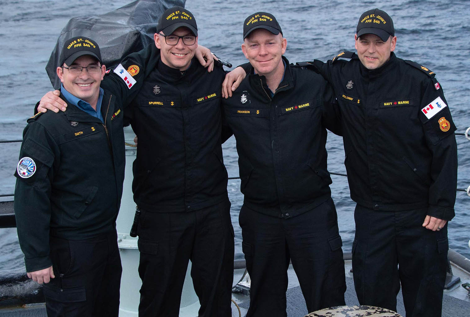 Four HMCS St. John's Petty Officers