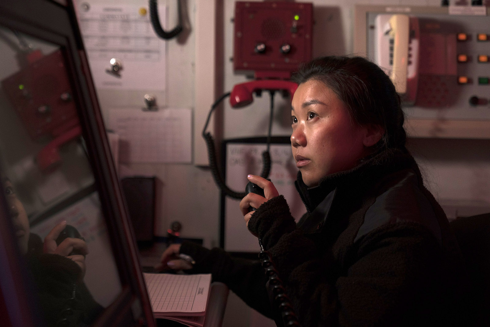 AB Li works in the Ops Room as a naval combat information operator.