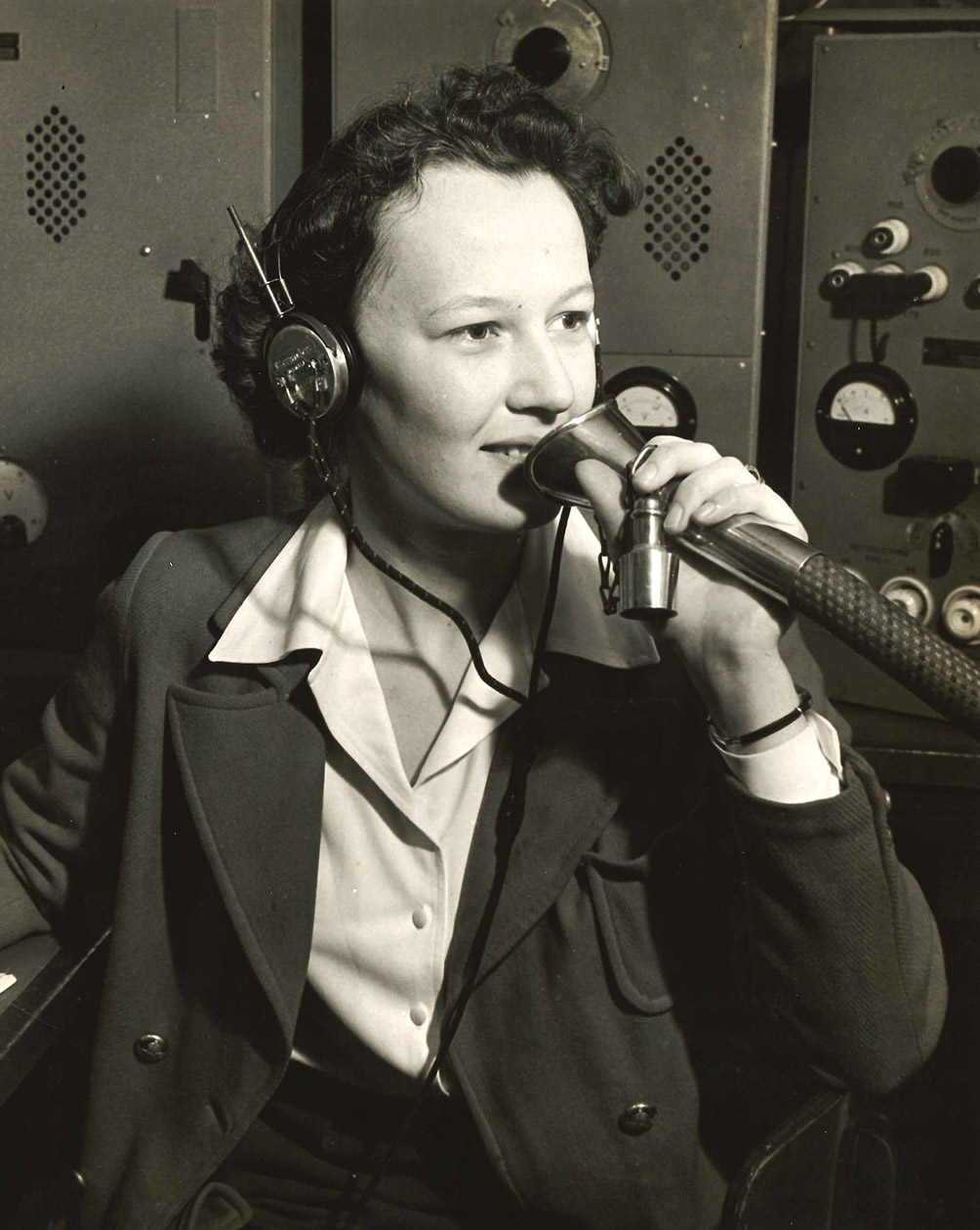 Fern Blodgett Sunde, from Cobourg, Ont., was the first woman ever to serve deep sea as a wireless radio operator.