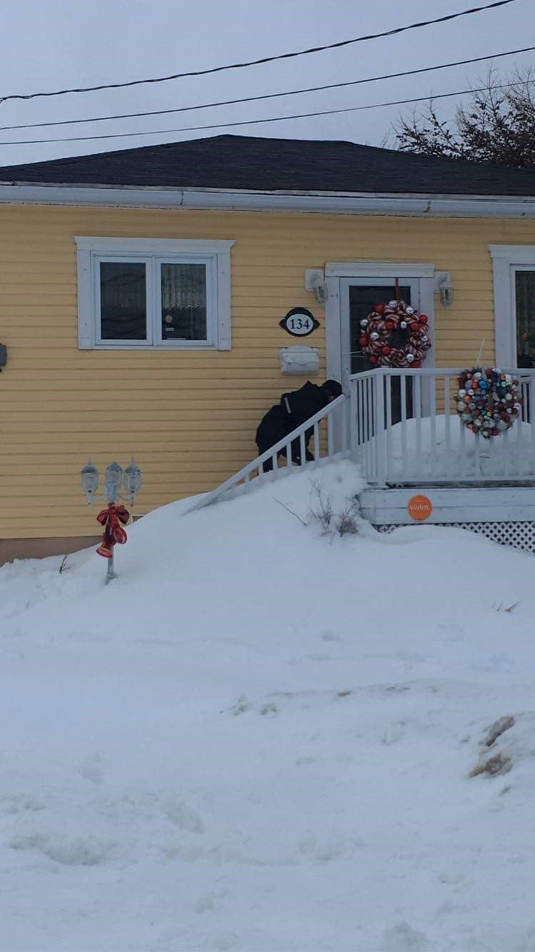 Sailors from HMCS Cabot, the Naval Reserve Division in St. John's, Nfld, have been knee-deep in snow this past week, helping their neighbours dig out from the record-setting blizzard that hit the region on January 17.