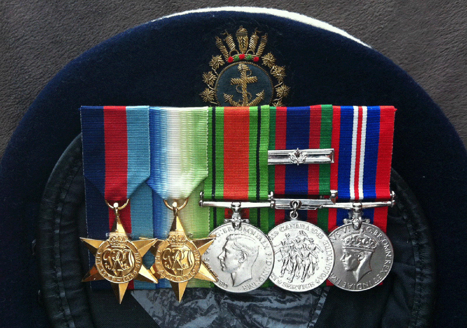 Medals received by AB Harrison F. Stumpf over the course of his duty.