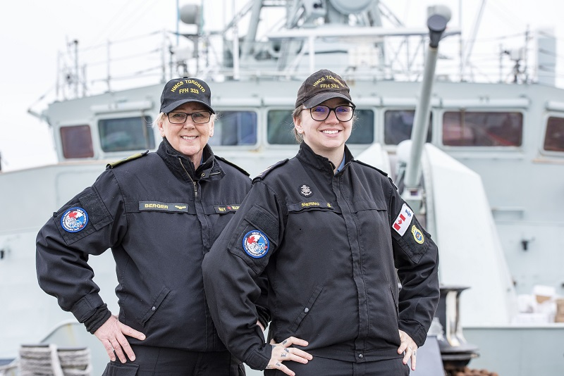 Like mother, like daughter: family members deploy together with HMCS Toronto