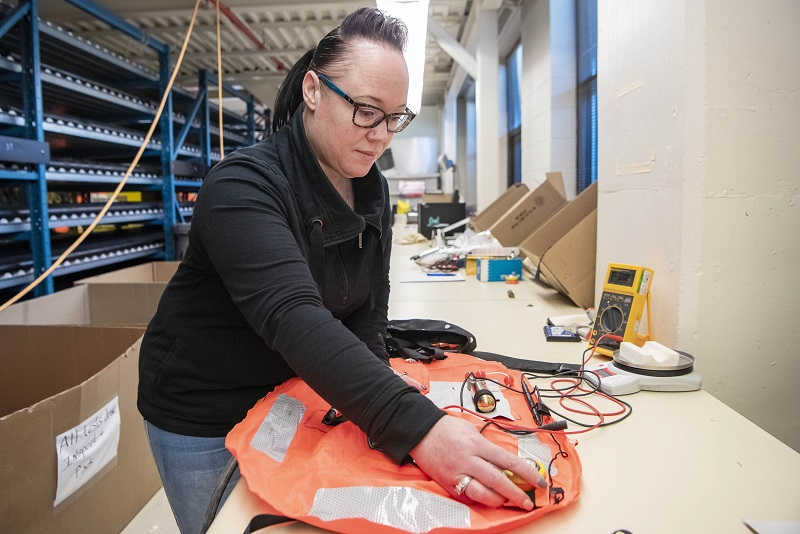 Narissa Crawford-Daniels recently transitioned from an administrative at FMF to beginning a new career as a ship repair apprentice. MONA GHIZ, MARLANT PA