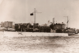 His Majesty's Canadian Ship CC-2 near Victoria in late 1914.