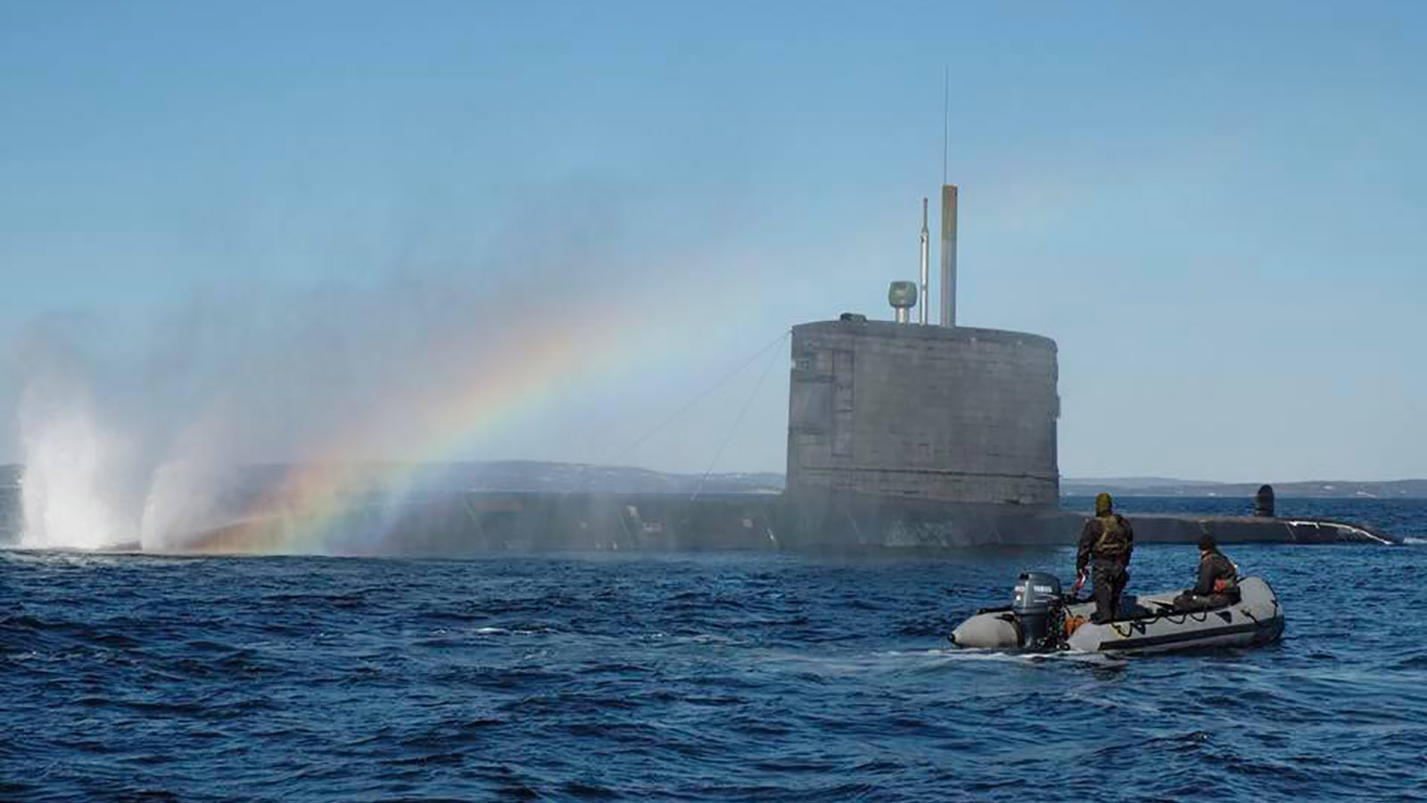 Slide - Submarine and rainbow