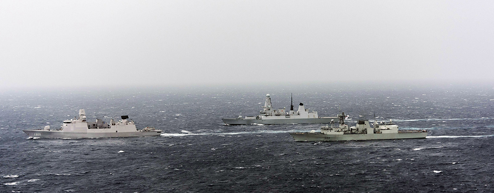 HNLS Evertson, HMCS Toronto and HMS Duncan