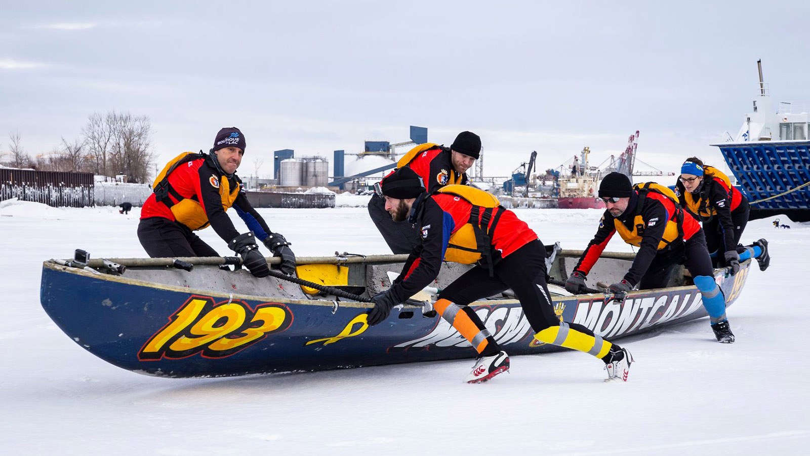 Slide - HMCS Montcalm's Ice Canoe Team