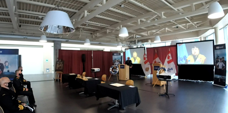 Slide - Livestream of the RCN change of command ceremony.