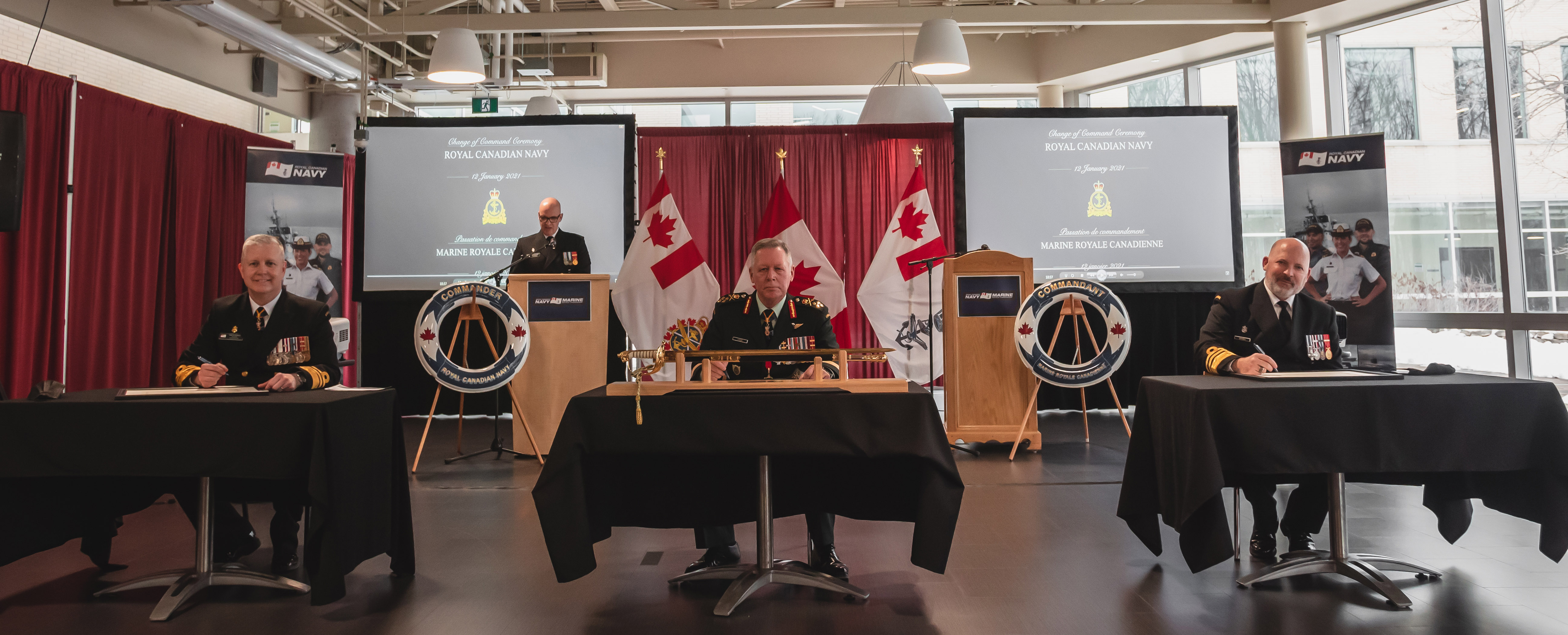 Commander Royal Canadian Navy change of command ceremony January 12