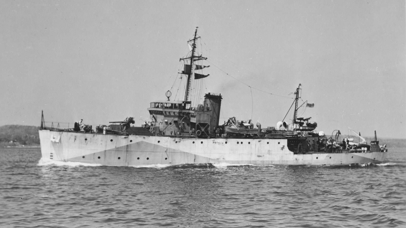 HMCS Grandmère was a Bangor class minesweeper. On October 11, 1942, while with Sydney Force, it rescued 101 survivors of the passenger ferry SS Caribou, torpedoed in the Cabot Strait.